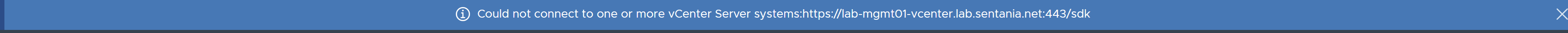 Offline VCSA Error